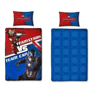 Avengers Civil War Bettwäsche Team Cap Team Stark Ca